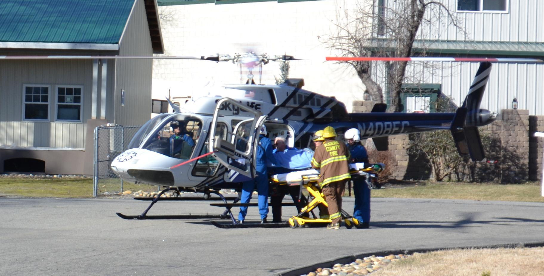Airlifting Accident Victim 1-15-13
