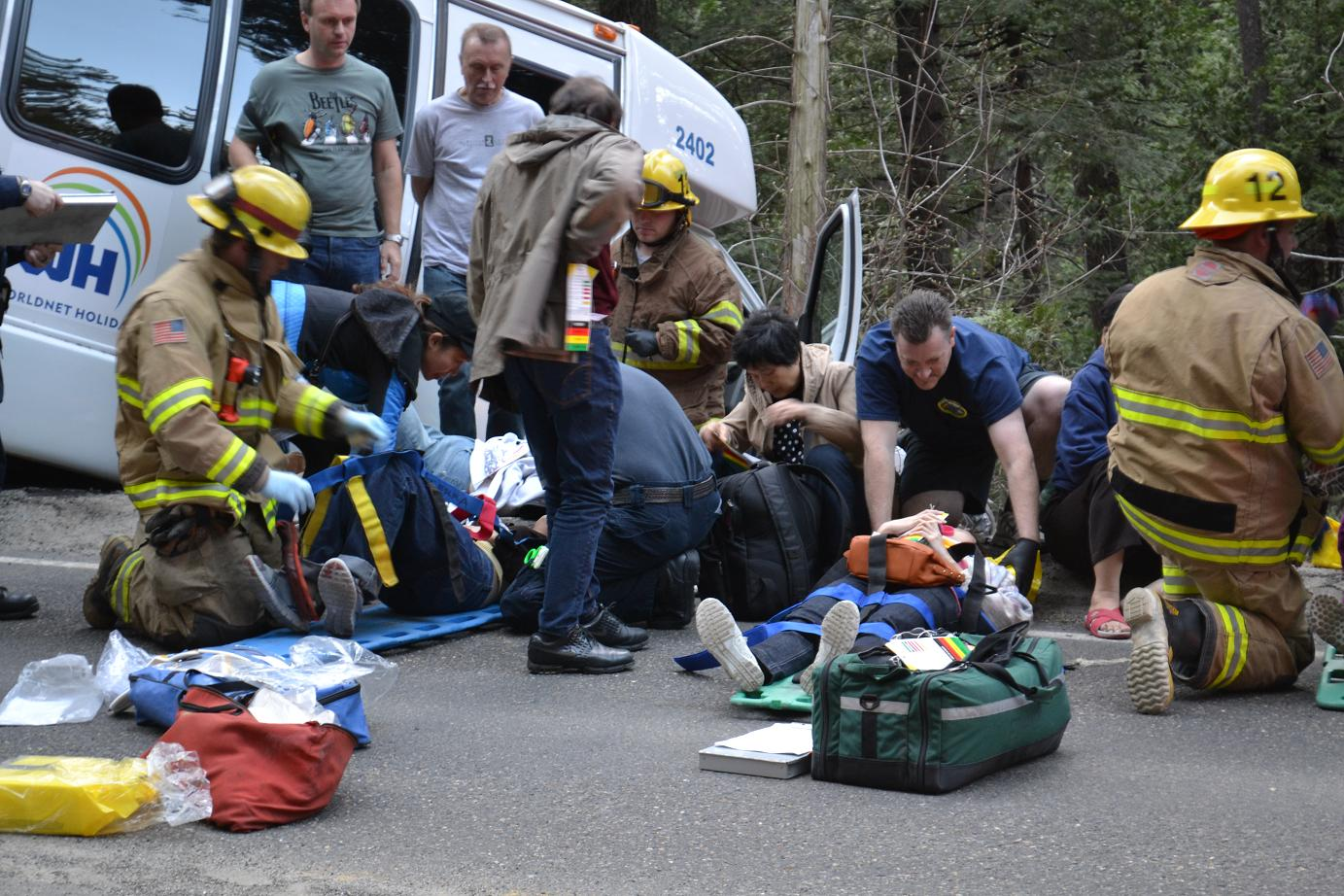 First Responders Tend To Passengers 3