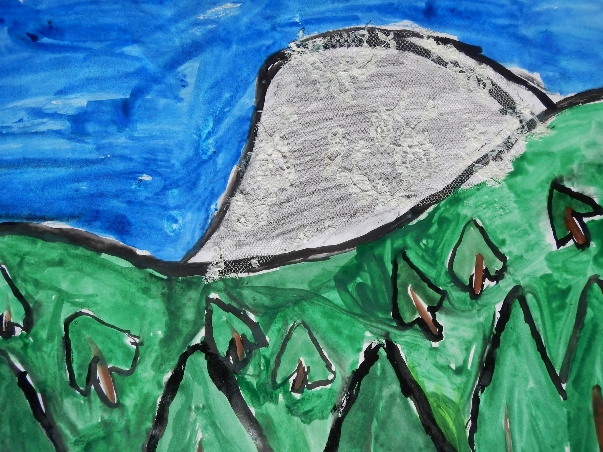 4th - 5th grade art - Half Dome and the Black Bear by Mia Coffman Yosemite Valley - photo by NPS
