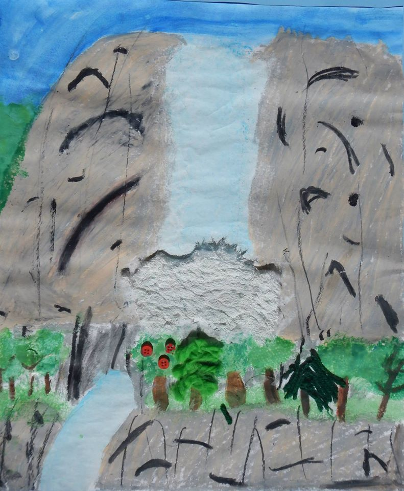 6th - 8th grade art - Falling for Yosemite - by Jaiden Stansberry Yosemite Valley - photo by NPS