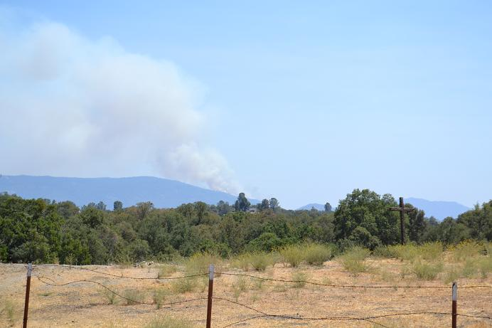 Auberry fire from north fork 8-11-12
