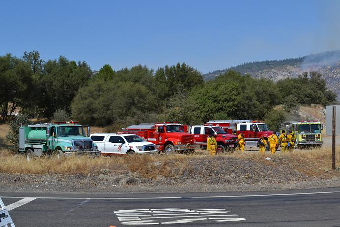 Auberry fire staging area 8-11-12
