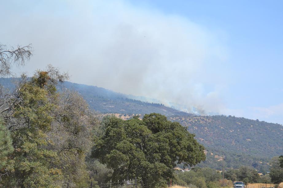 Auberry fire view from kirkoff road