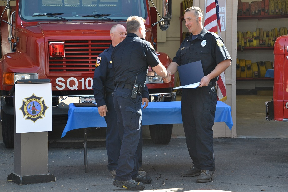 Gus Lavell is Firefighter of the Year