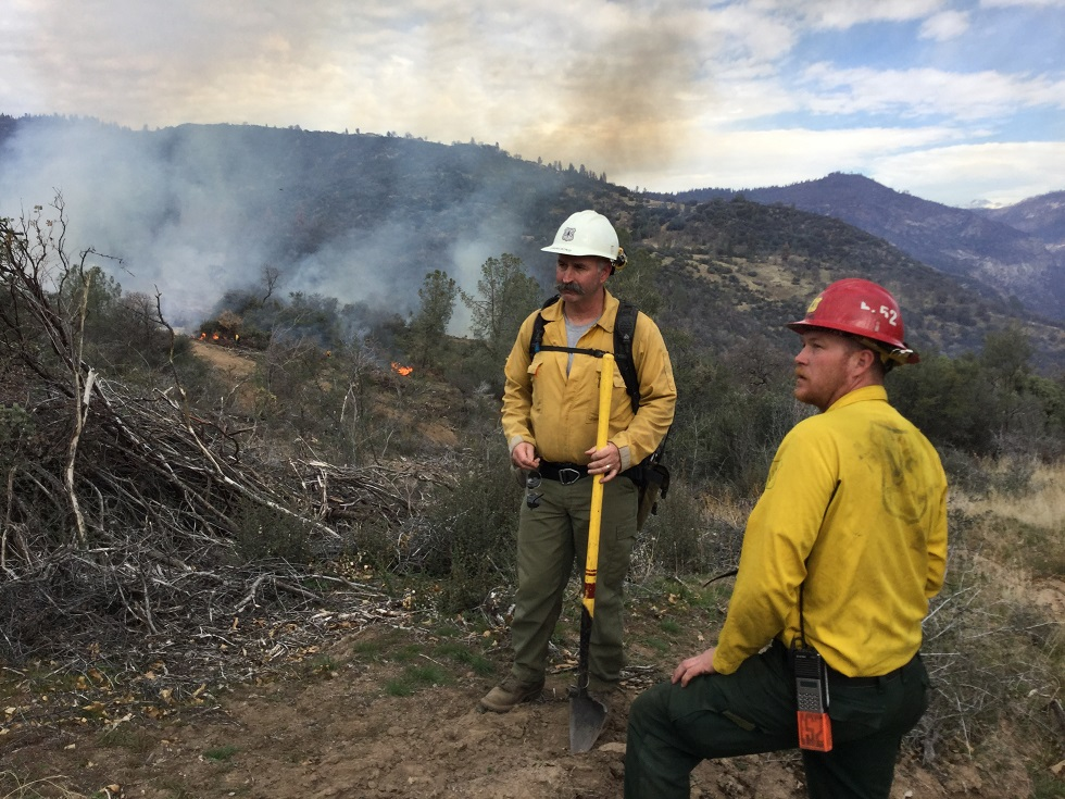 Mike Fralicks Burn Boss left and Ritter Bethel Holding Boss right - Source Kinsman Rx - photo US Forest Service