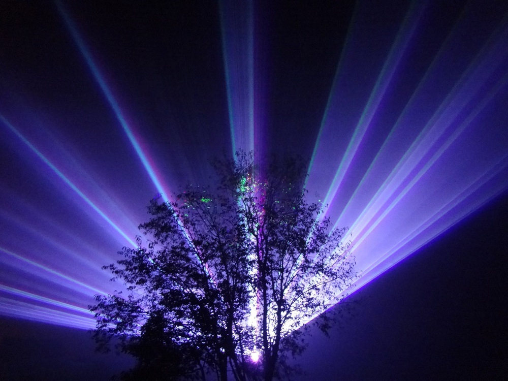 Example of a laser show from the company providing 4th of July show at Bass Lake