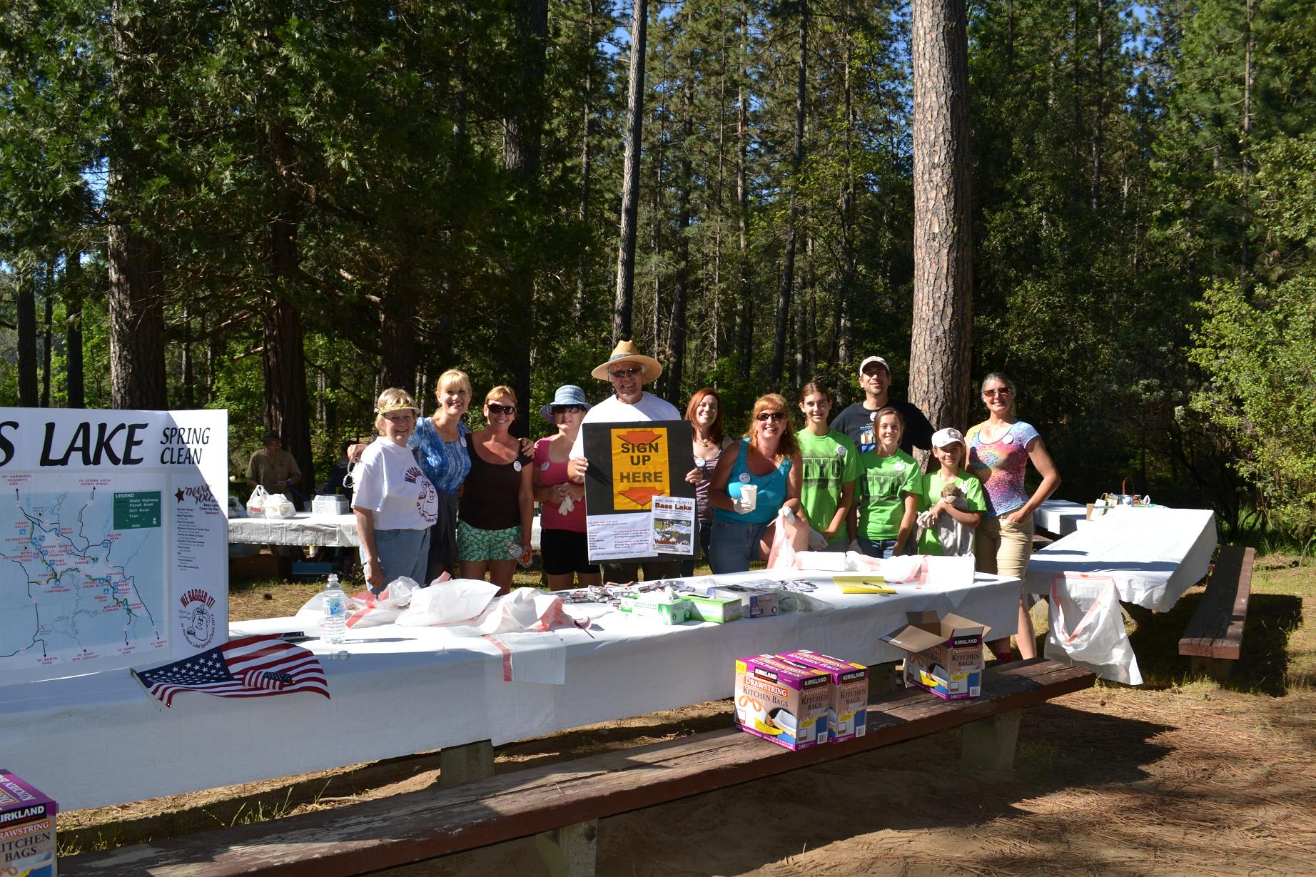 Volunteers at Bass Lake Clean Up Day 5-11-13