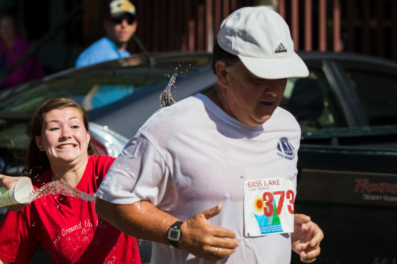 Volunteers like Allie Donnell helped out along the route -  - photo by Virginia Lazar