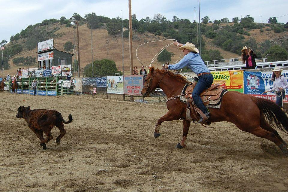 Breakaway roping 1 - photo courtesy of Tammi Kudra Edmonds