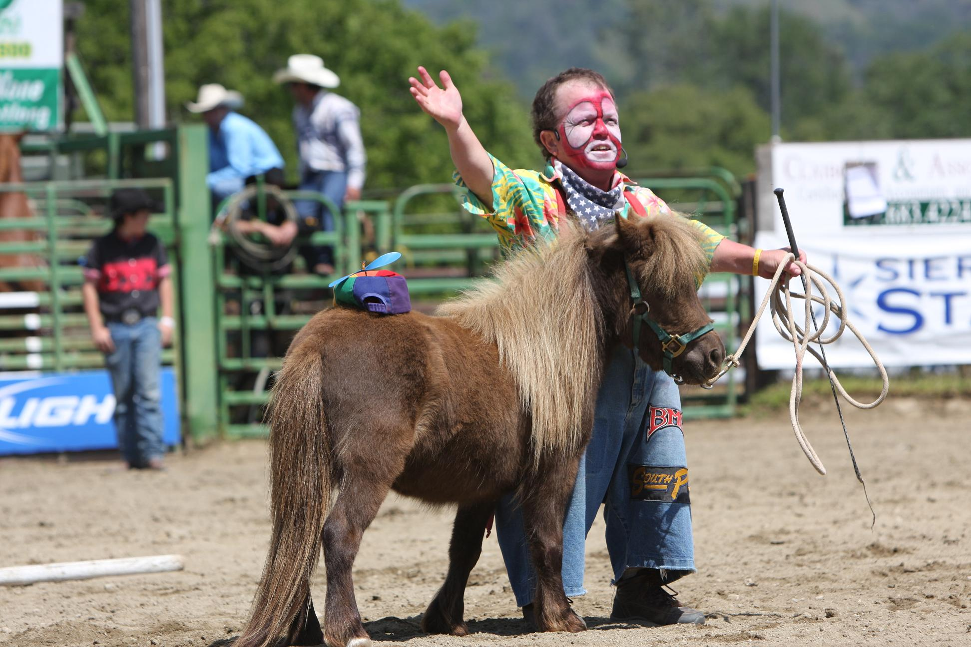 Danny Landis Rodeo Clown 2011 - photo courtesy of Susanne Updike-Waite