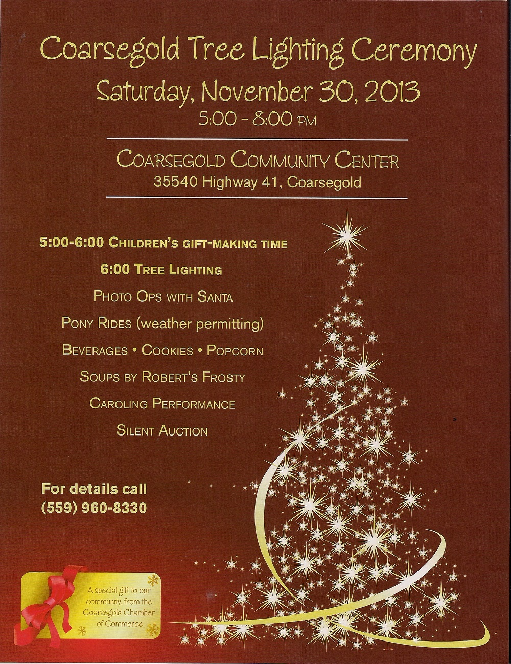 Coarsegold Tree Lighting 2013