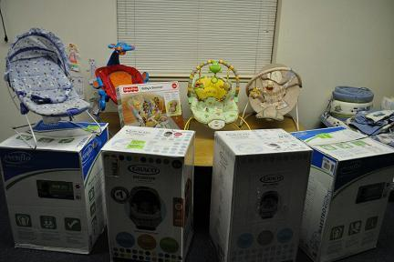 Large Items at Community Baby Shower