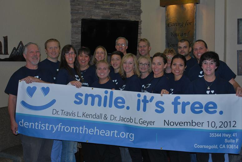 The staff at Dentistry From The Heart - 11-10-12