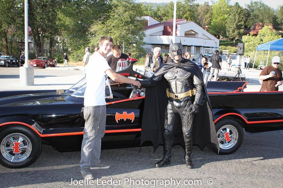 Batman and YHS Student at ELKS Challenge 2015 - Joelle Leder Photography