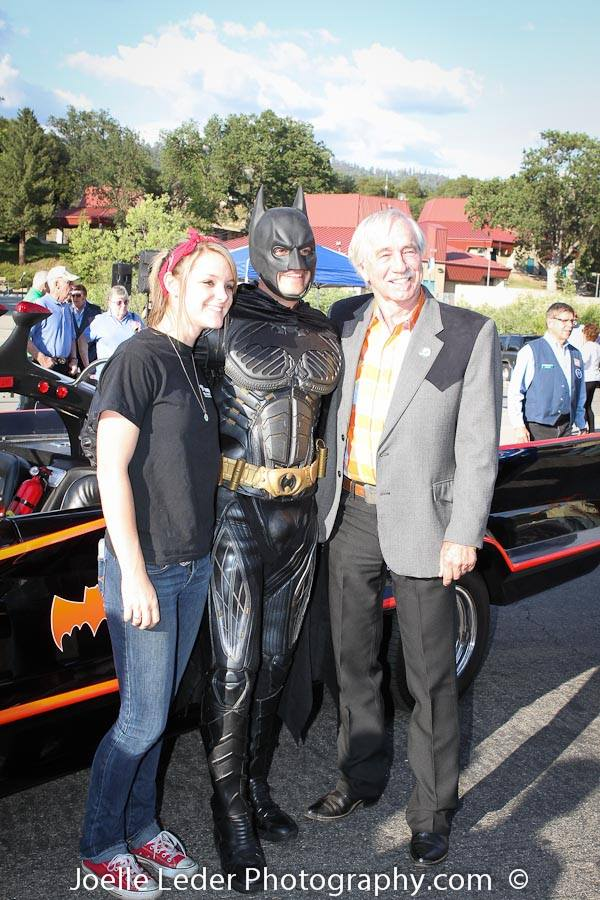 Tom Wheeler and Batman at the Elks Challenge 2015 - Joelle Leder Photography