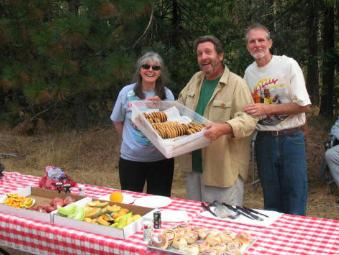 Grizzly Century Bike Run  - Roz and Chuck Thrapp and Roric Russell