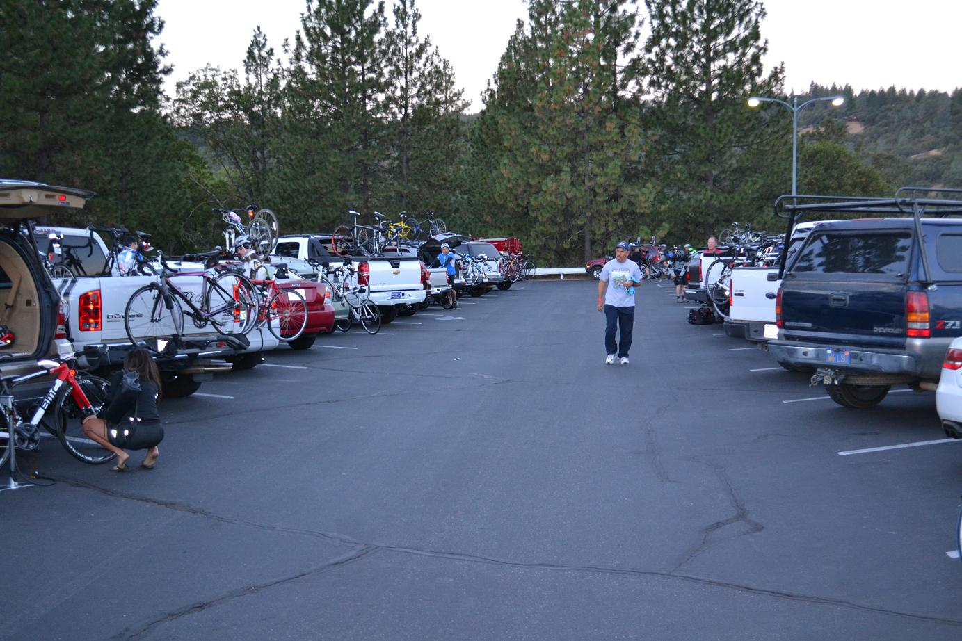 Staging at North Fork School for Grizzly Ride - photo by Gina Clugston