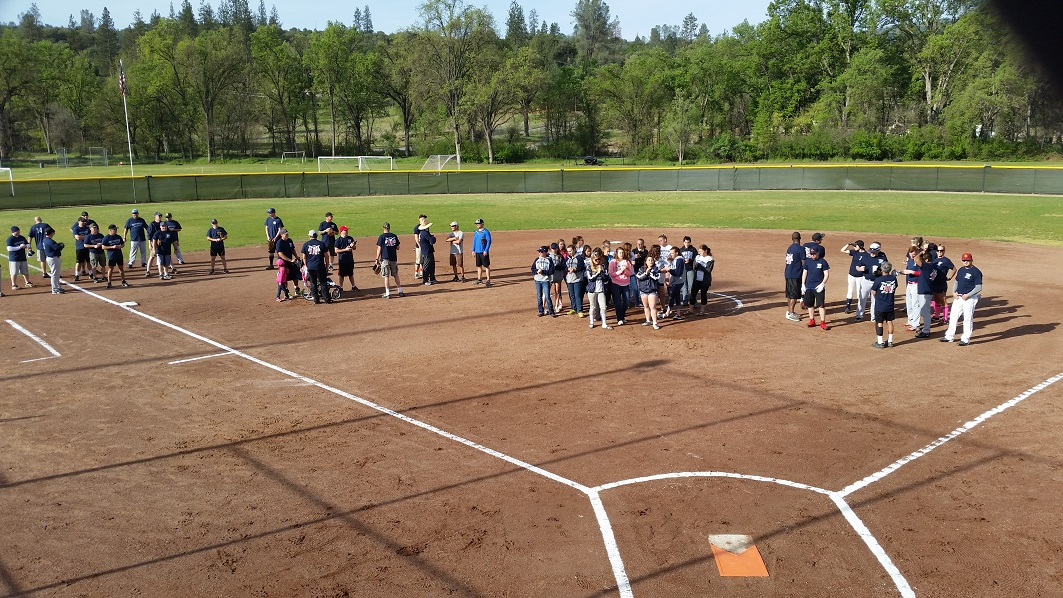 Teams gather for opening ceremonies at Guns  Hoses - photo Suzette Combs
