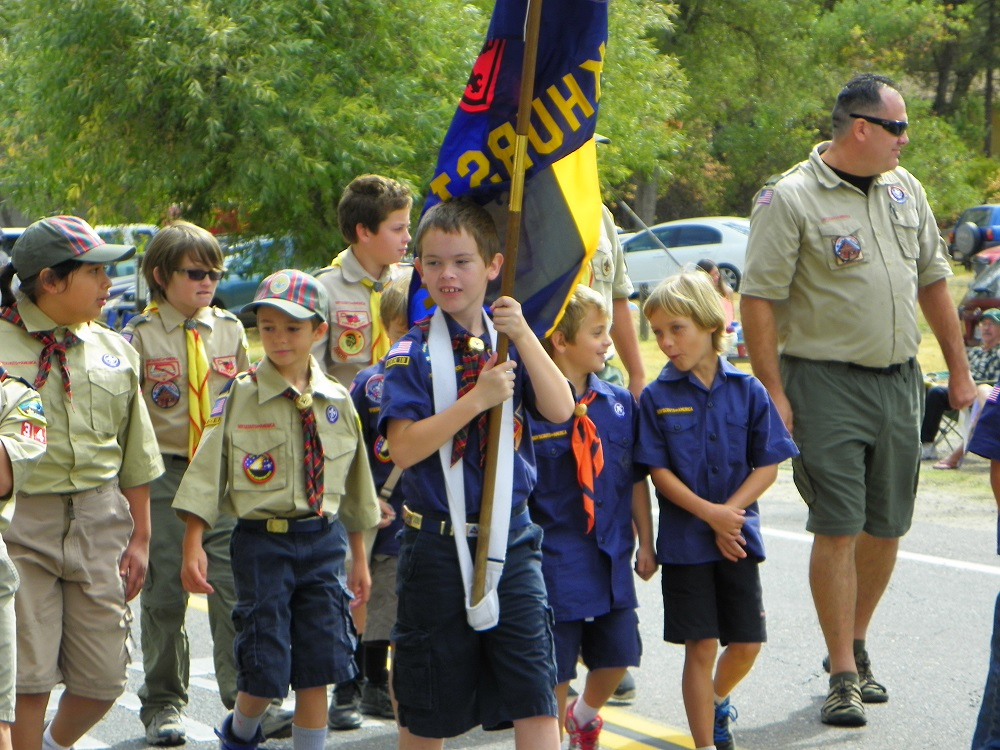 Mountain Heritage Days Parade 2013 - Boy Scouts 1 - Photo by Kellie Flanagan