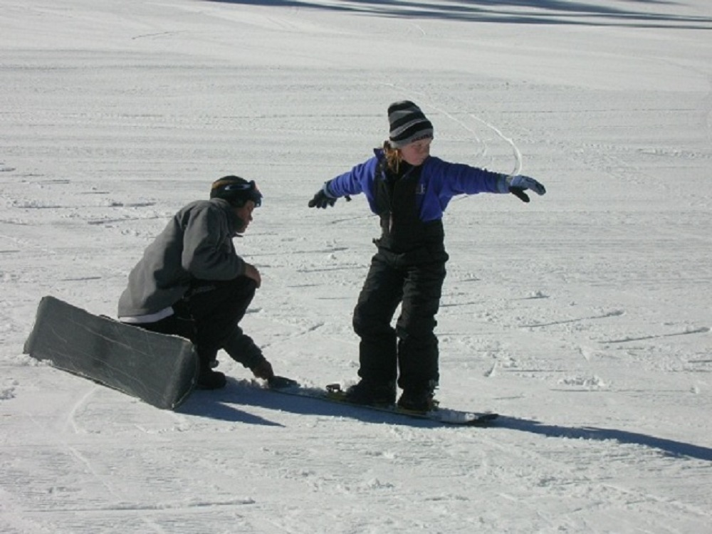MASS Student Clara Briley learns technique at Badger Pass - Photo by Kellie Flanagan