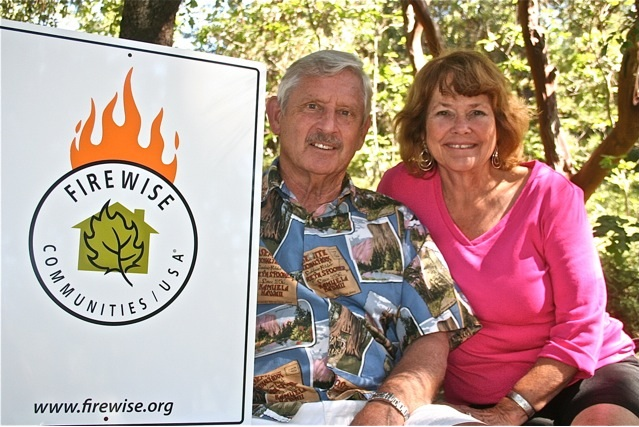 Bill Troost letter with Firewise Communities sign
