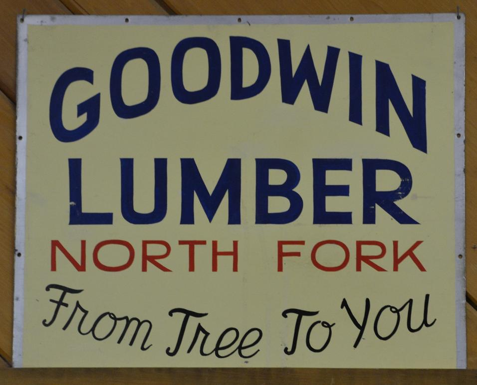 From Tree To You Sign Goodwin Lumber