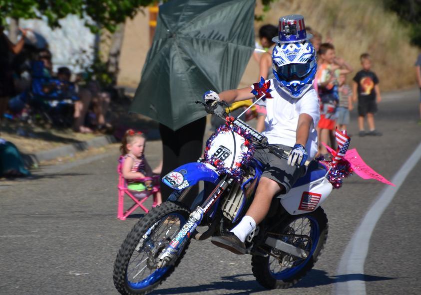 Motorcycle in Jamboree Parade