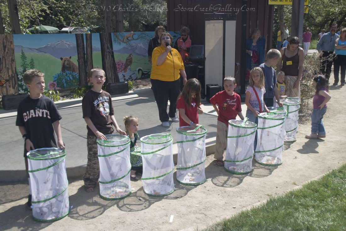 Mariposa Butterfly Festival - Kids prepare to release butterflies - Photo courtesy of Charles Phillips Stone Creek Gallery Mariposa