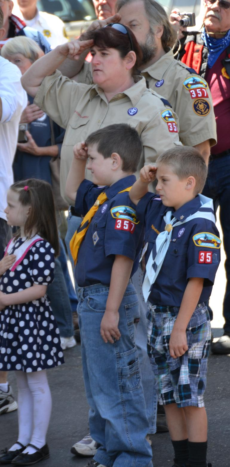 Nancy Wisseman and Troop 357