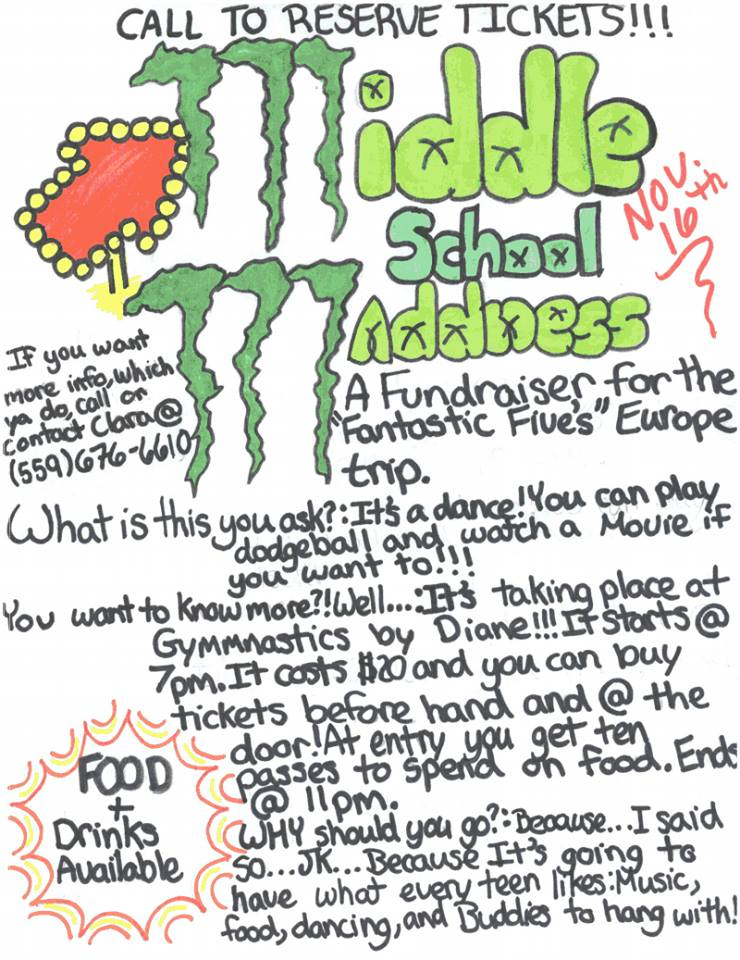 Middle School Madness flier