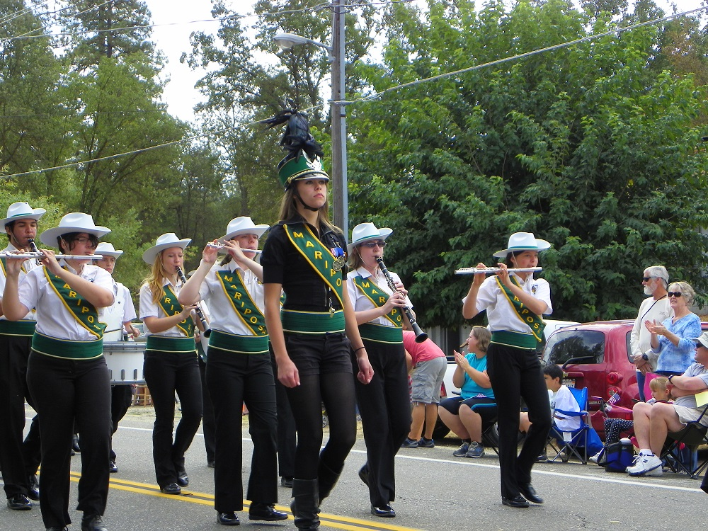 Mountain Heritage Days Parade 2013 - Mariposa High School Marching Band - Photo by Kellie Flanagan