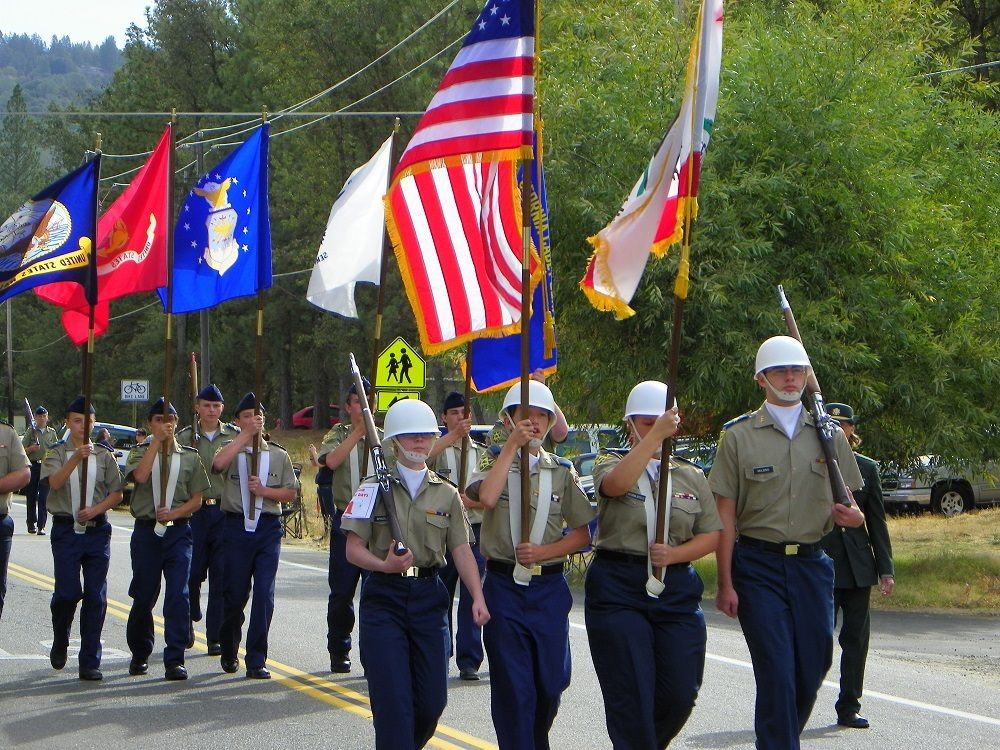 Mountain Heritage Days Parade 2013 - YHS Color Guard 2 - Photo by Kellie Flanagan