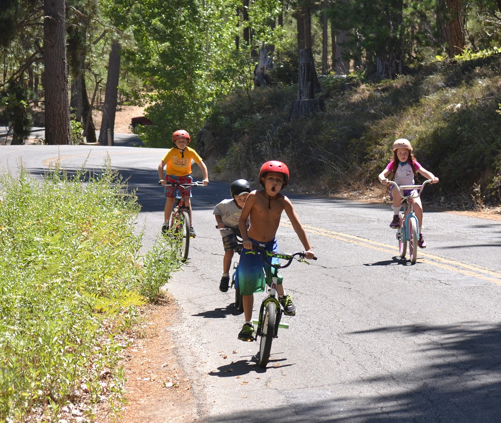 Bass Lake Kids on Bikes -- Photo Courtesy Millers Landing
