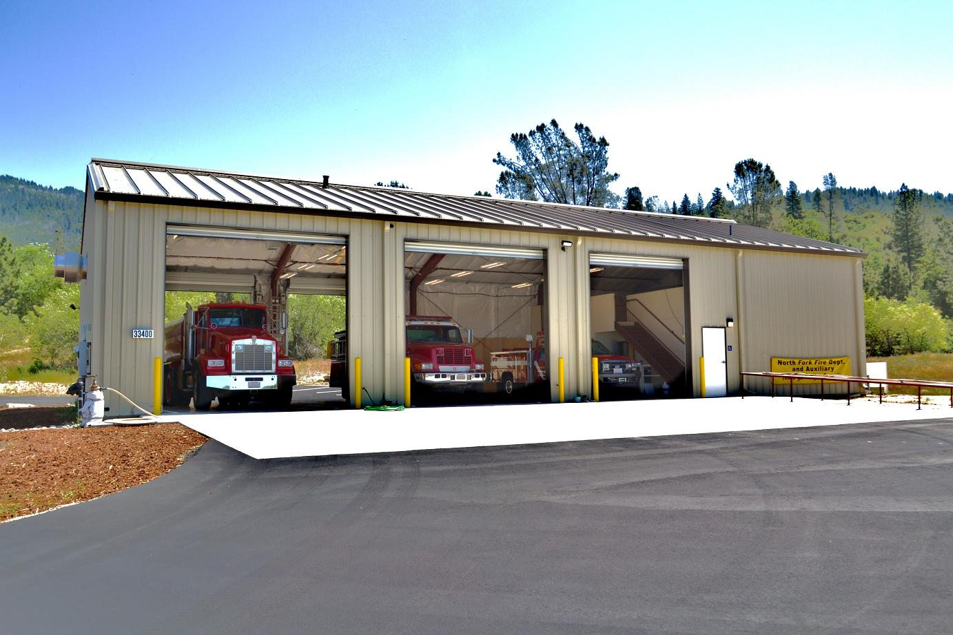Engines in Fire Station 11