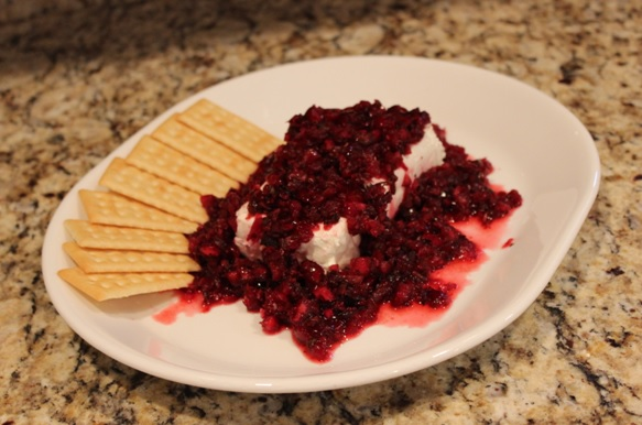 Prize winning cranberry salsa by Cindy Donnell - photo by Allie Donnell
