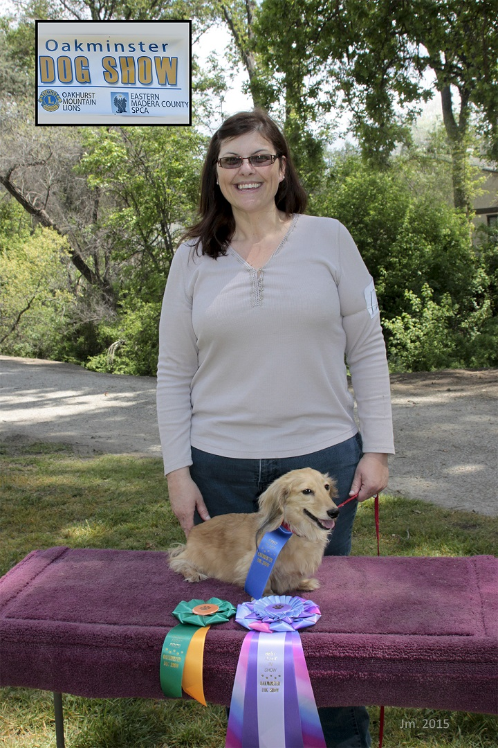 Best in Show purebred Adult - Sherry Guerra with dog Dexter - photo by Jackie Mallouf