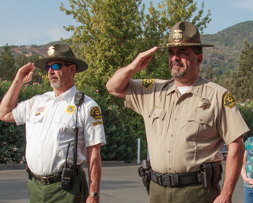 Representatives from Citizens on Patrol and Madera County Sheriffs Department at Patriot Day 2013 - Photo by Virginia Lazar