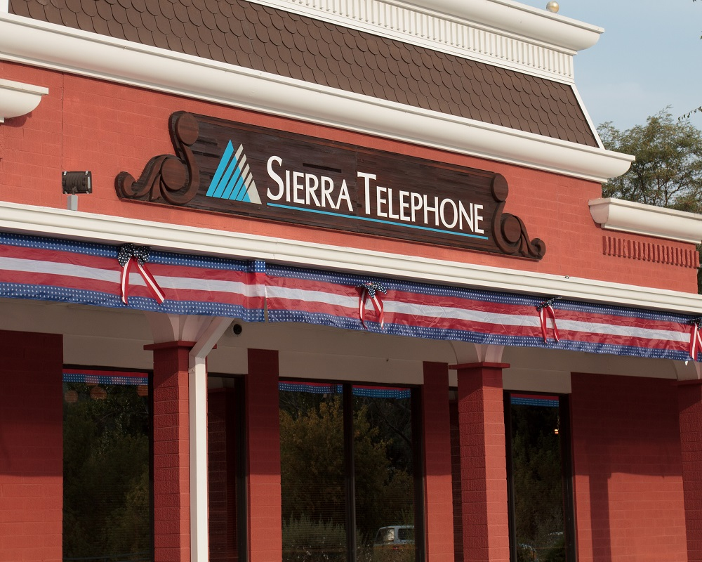 Sierra Telephone decked in patriotic bunting for Patriot Day 2013 - photo by Virginia Lazar