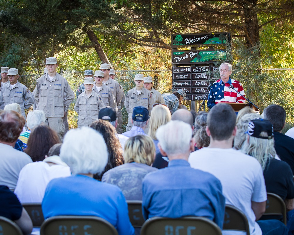 Tom Wheeler addresses the crowd at Patriot Day 2014 - photo by Virginia Lazar