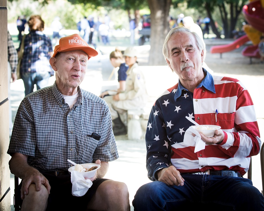 Who can resist pie at the Patriot Day ceremony 2014 - photo by Virginia Lazar