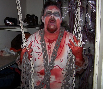 Bloody prisoner at Mt Lions Haunted House