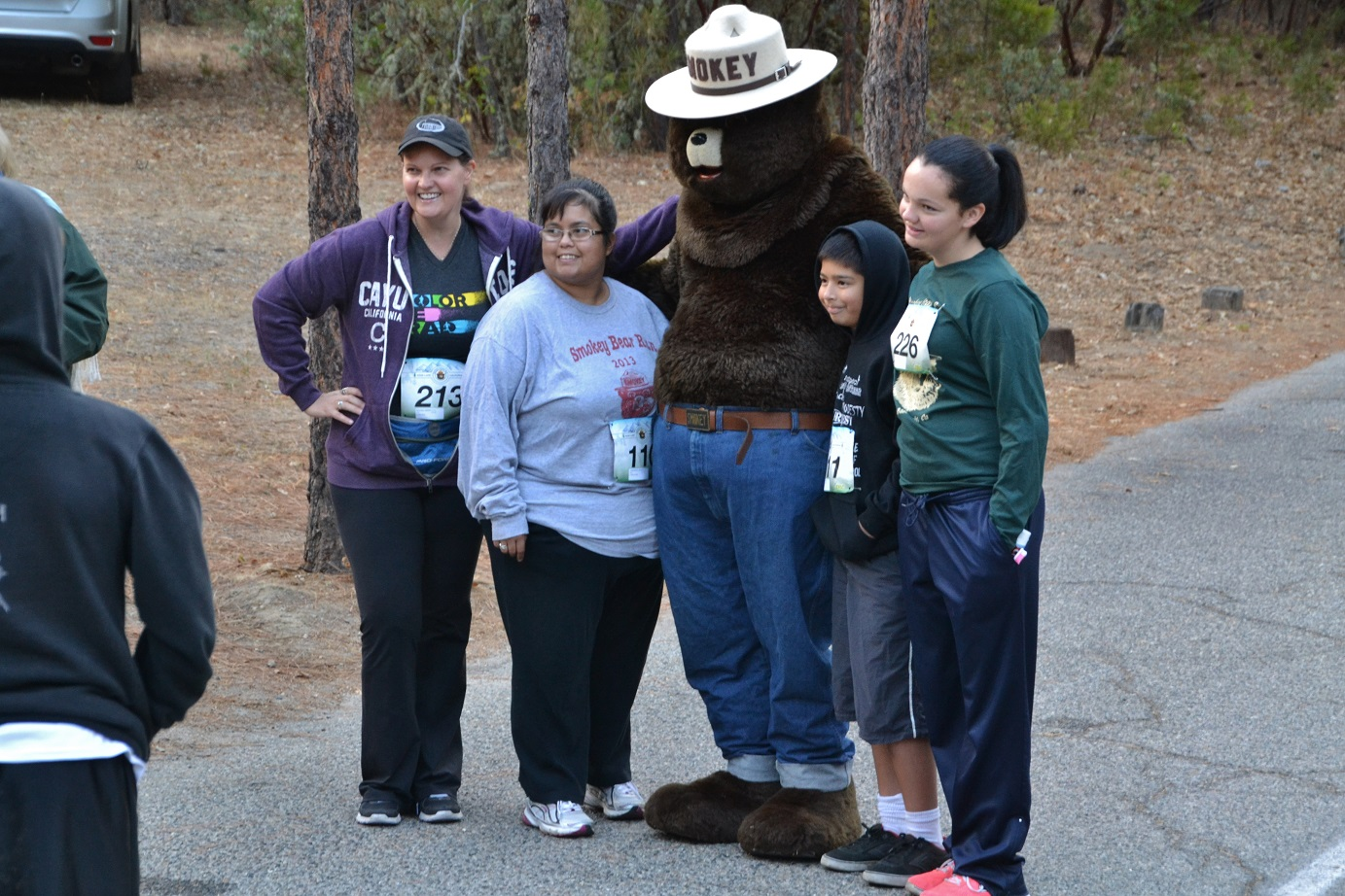 Posing for a photo with Smokey - photo by Gina Clugston