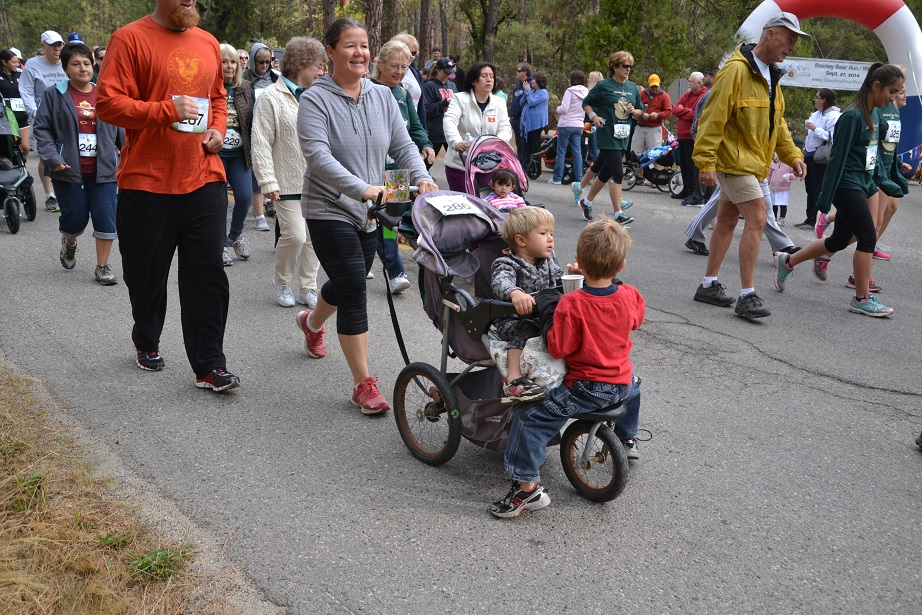 Strollers in the 2 mile race - photo by Gina Clugston