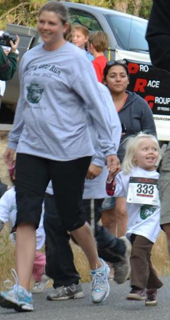 Smokey Bear Run Happy Girl 9-22-12