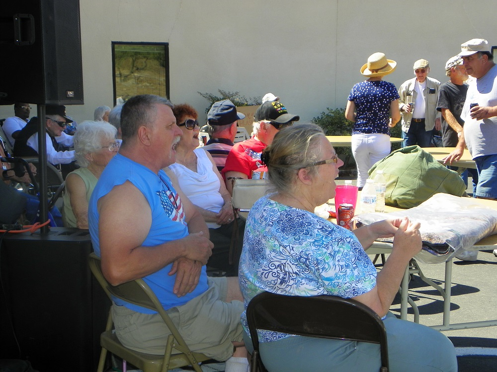 Veterans Stand Down Coarsegold 2013 - Crowd reacts to wrestling - Photo by Kellie Flanagan