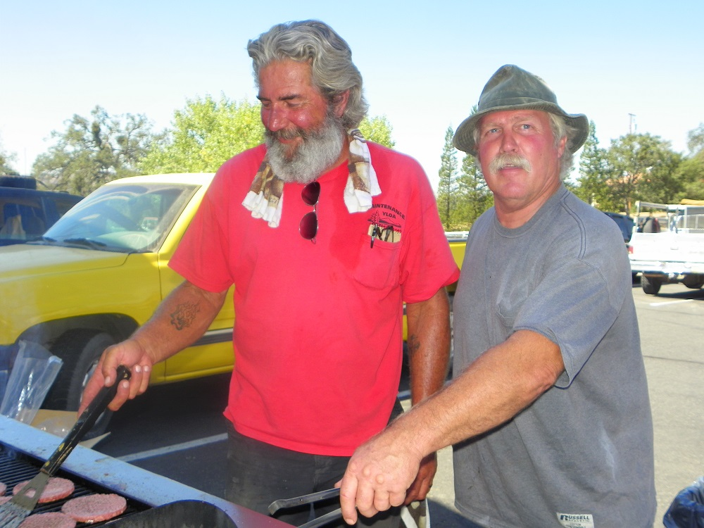 Veterans Stand Down Coarsegold 2013 - Flipping Burgers - Photo by Kellie Flanagan
