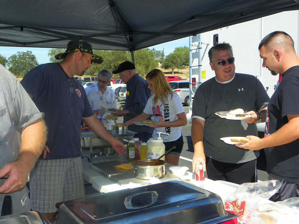 Veterans Stand Down Coarsegold 2013 - In line for good food - Photo by Kellie Flanagan