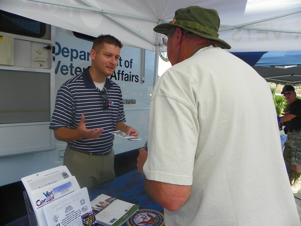 Veterans Stand Down Coarsegold 2013 - Vets can get help with benefits - Photo by Kellie Flanagan