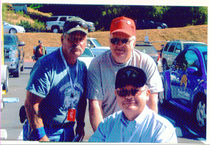 Veterans Terry Bill and Mark at the Oakhurst Stand Down - Courtesy of Caring Veterans of America