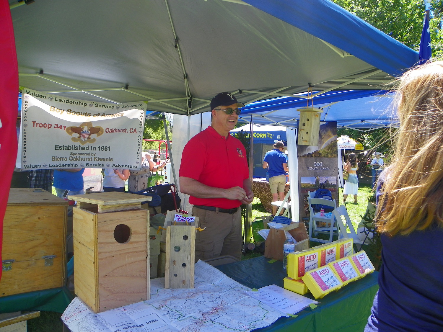 Yos Fest Tony MacLean at Boy Scout Troop 341 booth - photo by Kellie Flanagan
